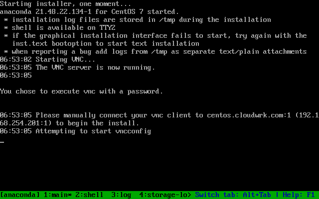 Remote Server Installation – CentOS 7 – Cloud Work Solutions